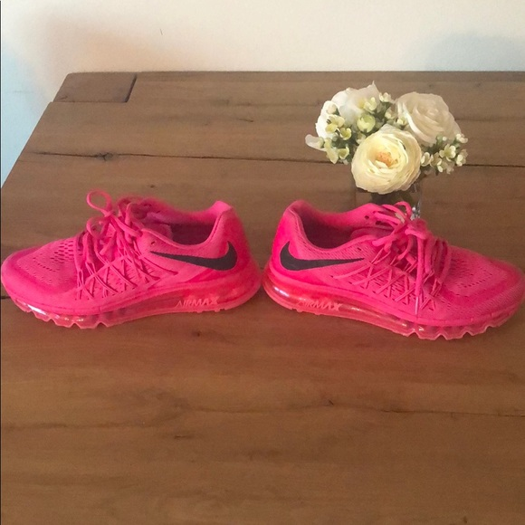 Nike hot pink Air Max neutral ride running shoes